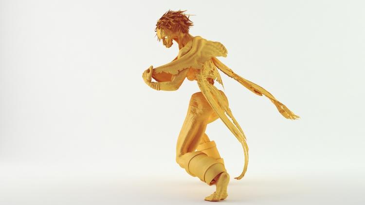 Raziel Clay Render - characterdesign - miruku3d | ello