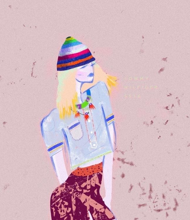 Fashion illustration inspired T - taniaorozco | ello
