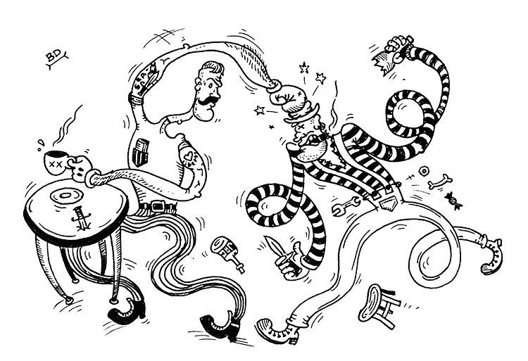Clash pub >---&lt - illustration - dmitrybulanov | ello
