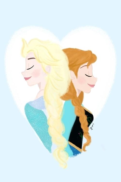 illustration, frozen, frozenfanart - roxanneeee | ello