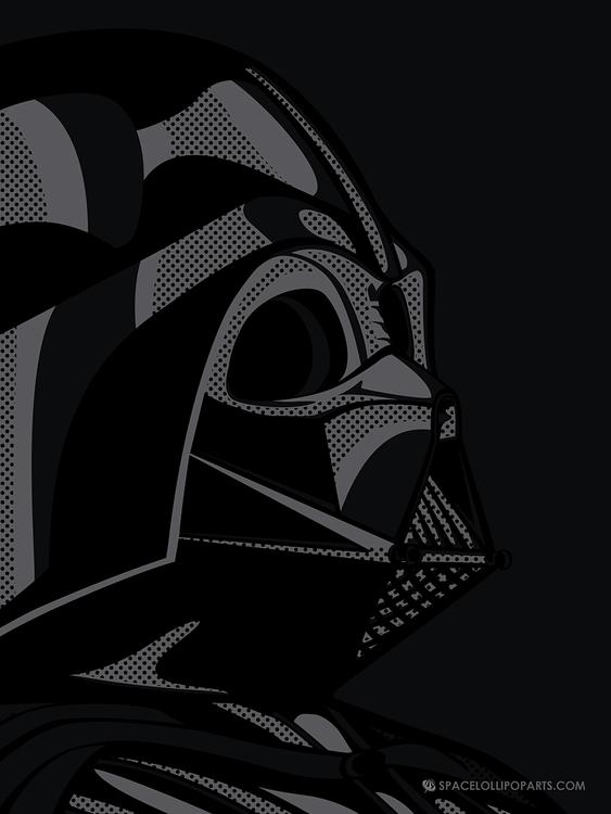Star Wars Pop Art - Vader black - bergie81 | ello