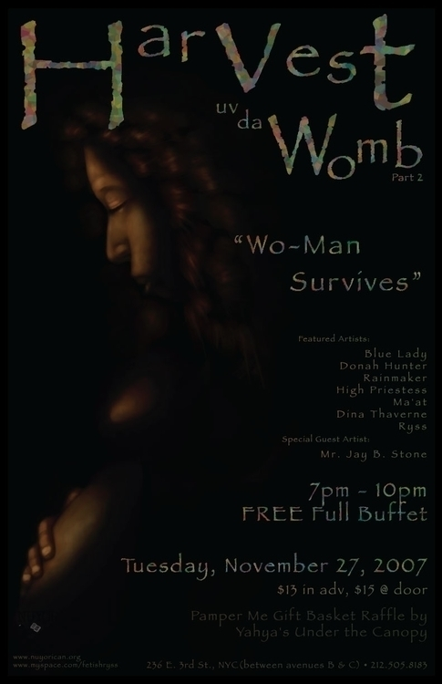 Event flyer - Harvest Womb - graphicdesign - bkthompson | ello