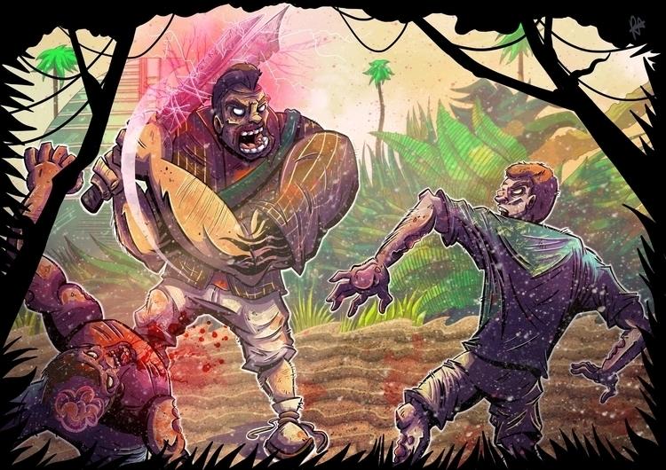 Dead Island fan art, 2 - deadisland - rachelalderson | ello