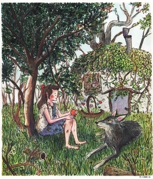 Wendy Darling - illustration, children'sillustration - jchanart | ello