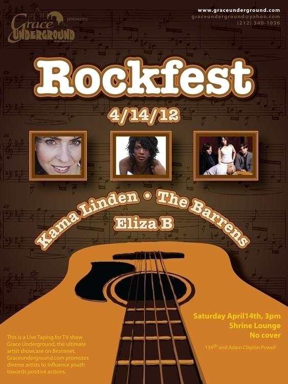 Event poster - Rockfest - graphicdesign - bkthompson | ello