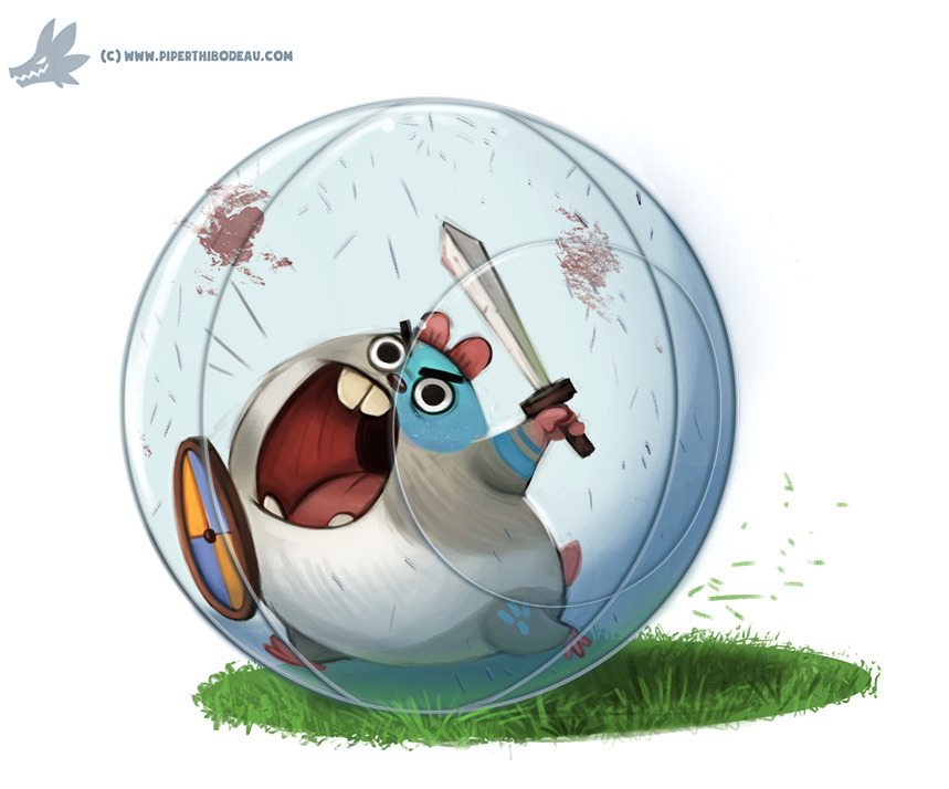 Daily Paint Battle Hamster - 1108. - piperthibodeau | ello