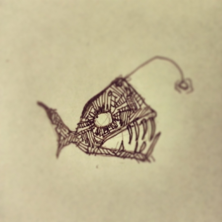 deceivingly humble angler fish - rogueink | ello
