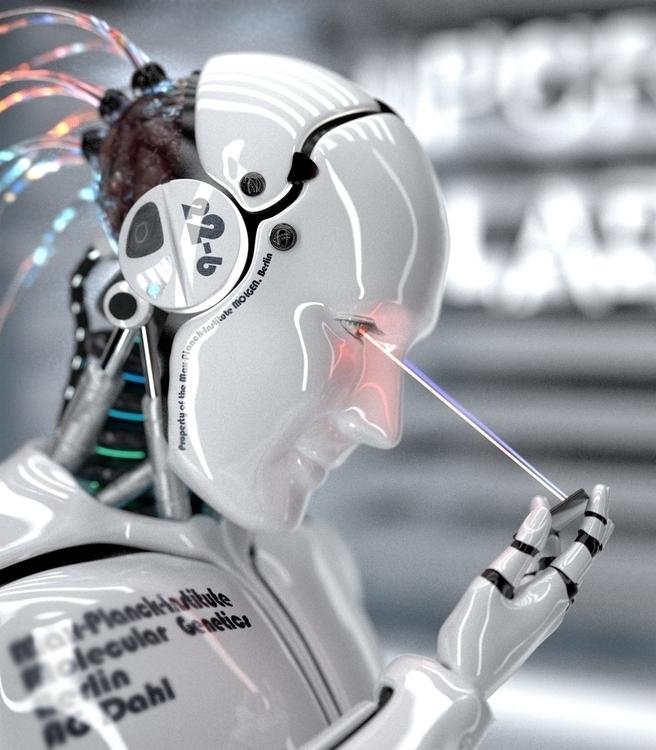 SpaceLolliPopArts Robot 01 - 3dart - bergie81 | ello
