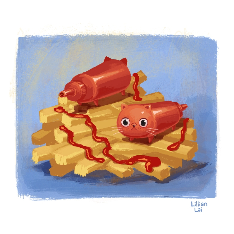 Catsup fries - lillisketch | ello