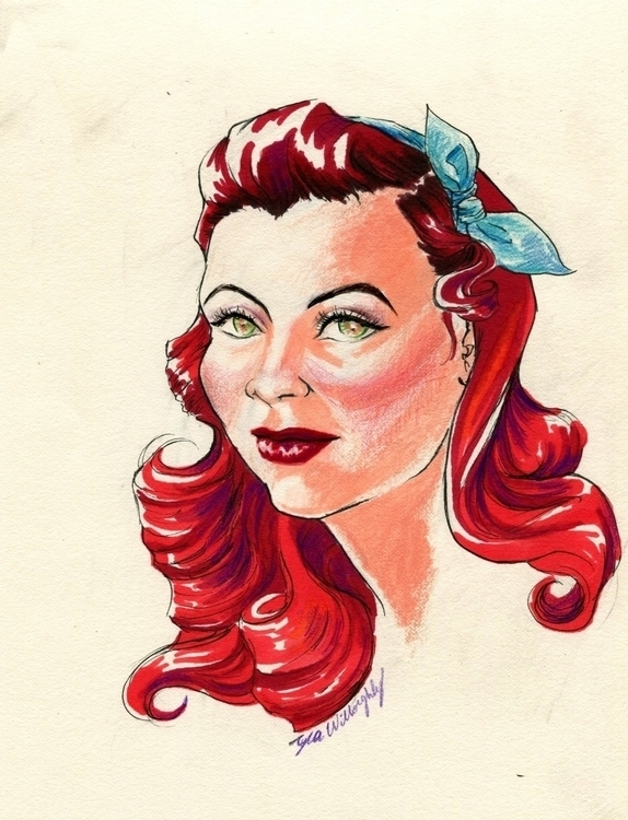 Awesome red hair - colorpencil, drawing - tyrawilloughby | ello