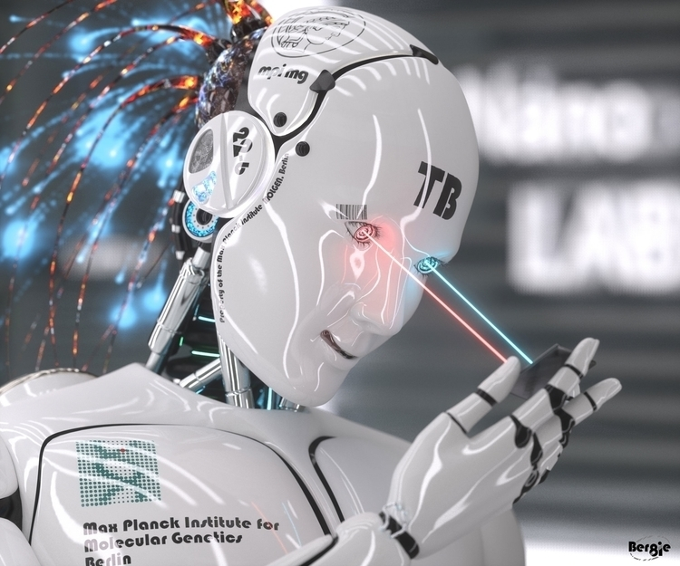 SpaceLolliPopArts Robot 02 - robot - bergie81 | ello