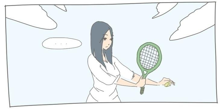 Tennis - illustration, drawing, digitalart - goree | ello