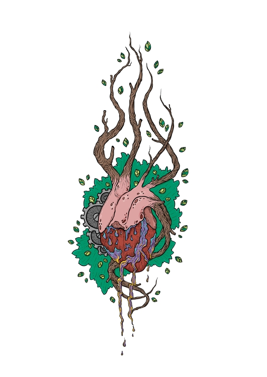 Heart Nature Art - illustration - zita-3948 | ello