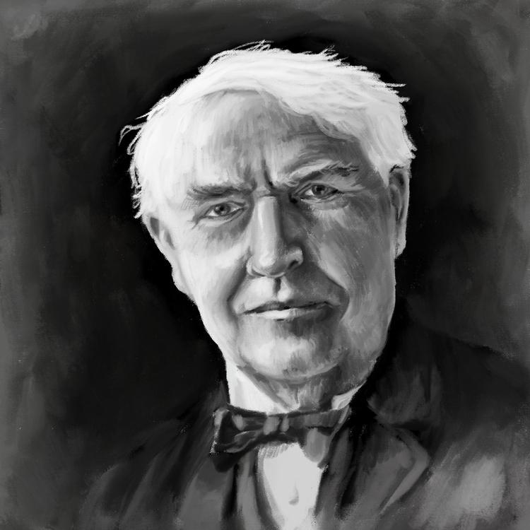 Thomas Edison - portrait, digitalart - prianikn | ello