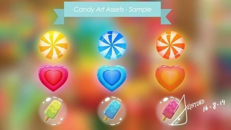 Icons Concept Candy Game GUI De - jantoko | ello