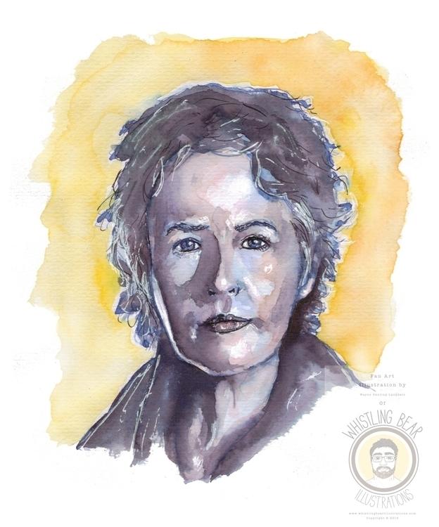 Carol Walking Dead, fan art ill - whistlingbear   ello
