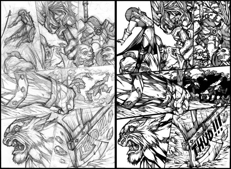 comic, pencil, ink, penink - lr_visualart | ello