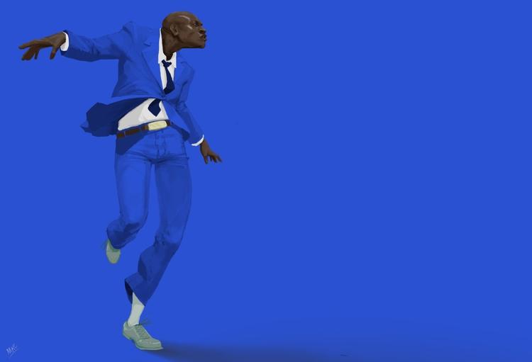 Black blue - illustration, characterdesign - maxkclifford | ello