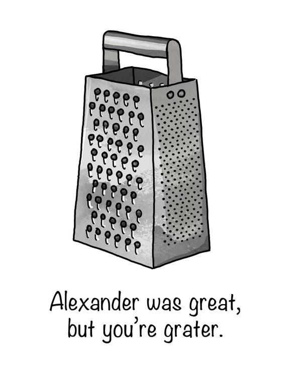 Alexander great - humor, wordplay - nanu_illustration | ello