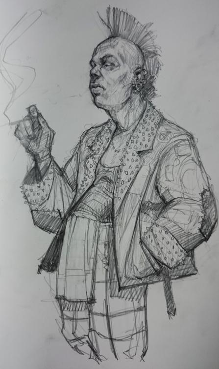 pencil punk - portrait, drawing - maxkclifford | ello
