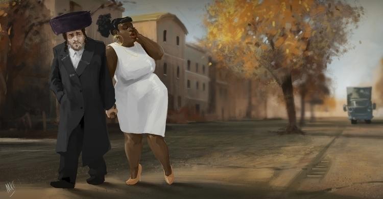 Brooklyn - illustration, characterdesign - maxkclifford | ello