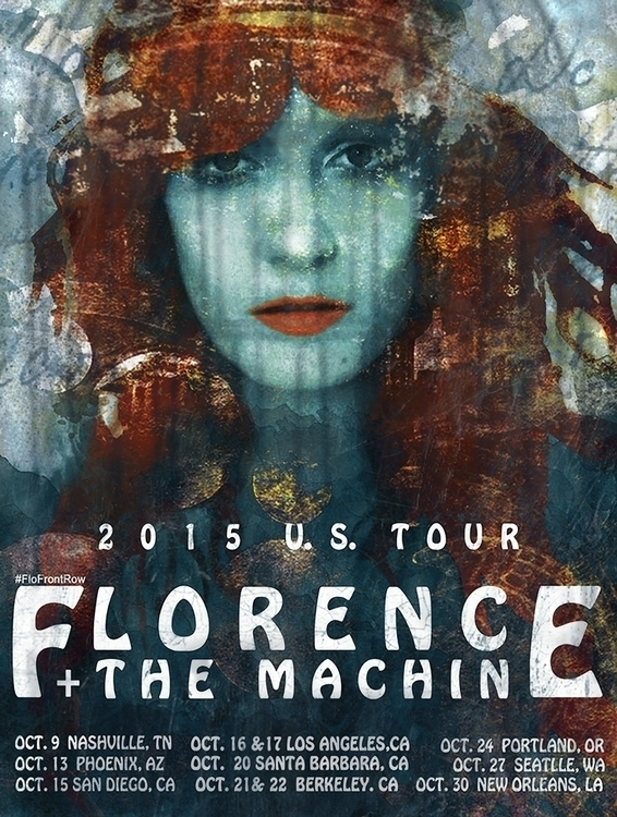 poster Florence + Machine, tour - elgree | ello