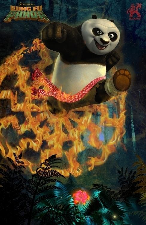 poster Kung fu Panda ella green - elgree | ello