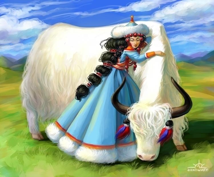 Mongolian Jasmine - mongolia, mongol - handwolfy | ello