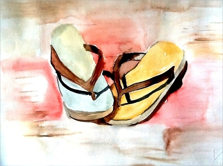 Summer Watercolour painting tho - studiobonnici | ello