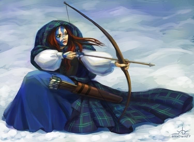 Scottish Neitiry - scottish, woman - handwolfy | ello