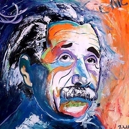 Albert Einstein - painting, drawing - josedeolioart | ello