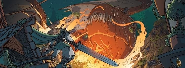Dragon attack - dragon, fire, explosion - igorwolski   ello
