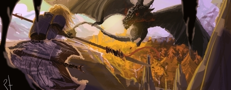 conceptart, dragon - rodrigofernandes-7444 | ello