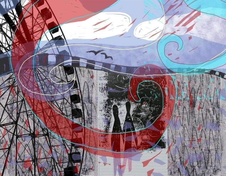 Walk Fairground Digital collage - studiobonnici | ello