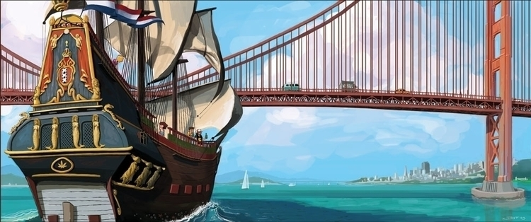 goldengate, adventure, bay, ship - rudyfaber | ello