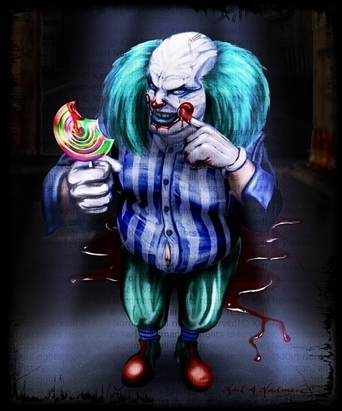 Creepy Clown - CreepyClown, terror - thelycanknight | ello
