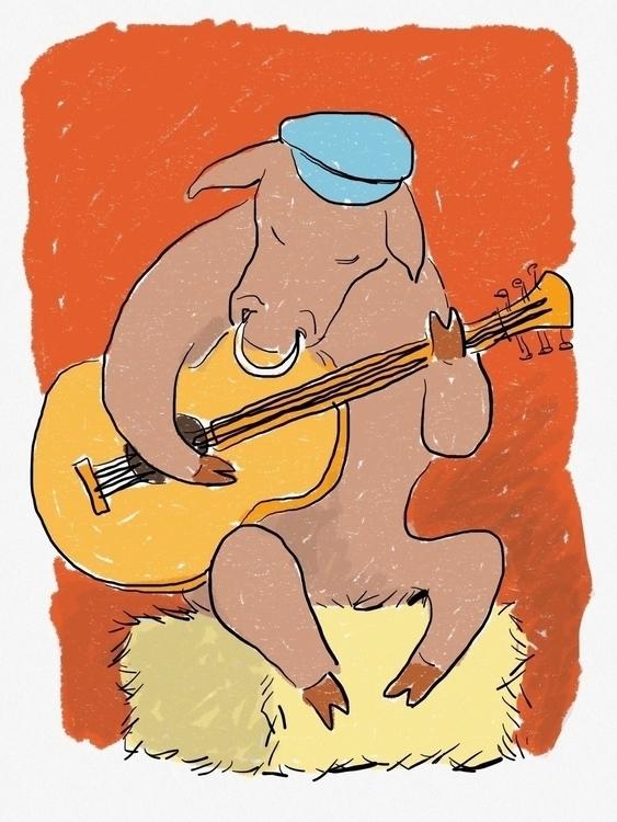 Bremen town musician - illustration - zenink | ello