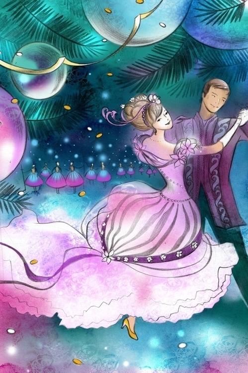 Christmas ball - illustration, christmas - natatulegenova   ello