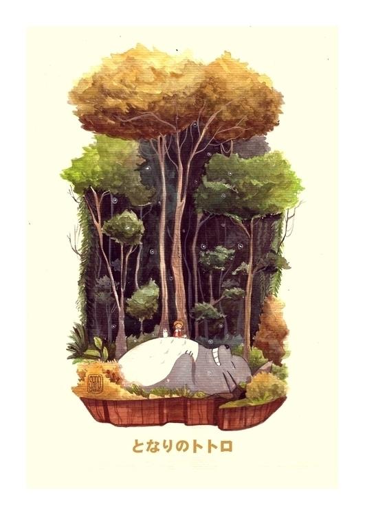 Totoro - totoro, studioghibli, fanart - sapolendario | ello