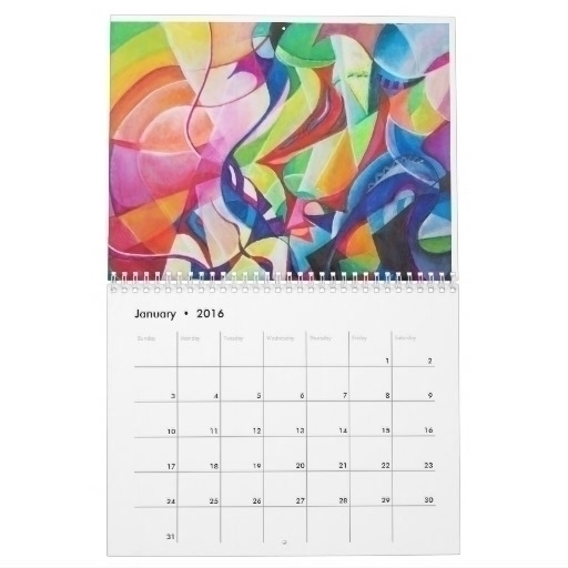 calendar paintings - painting, abstract - wolfgangschweizer | ello