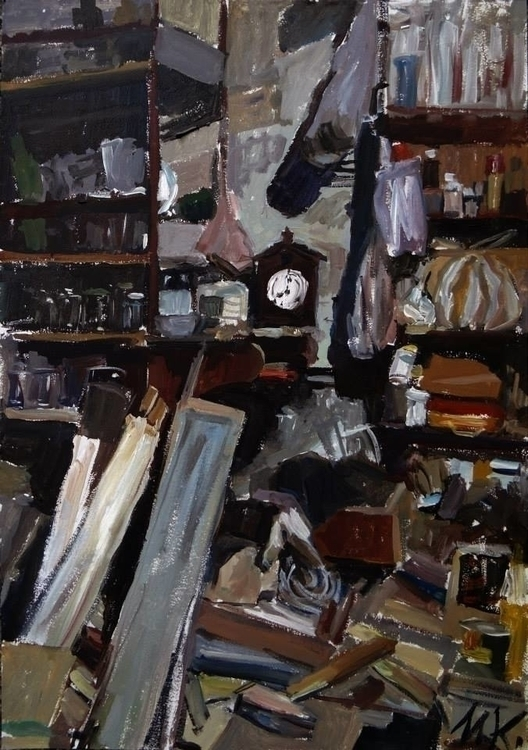 Artistic chaos2, 50x35cm, oil c - kashlak   ello