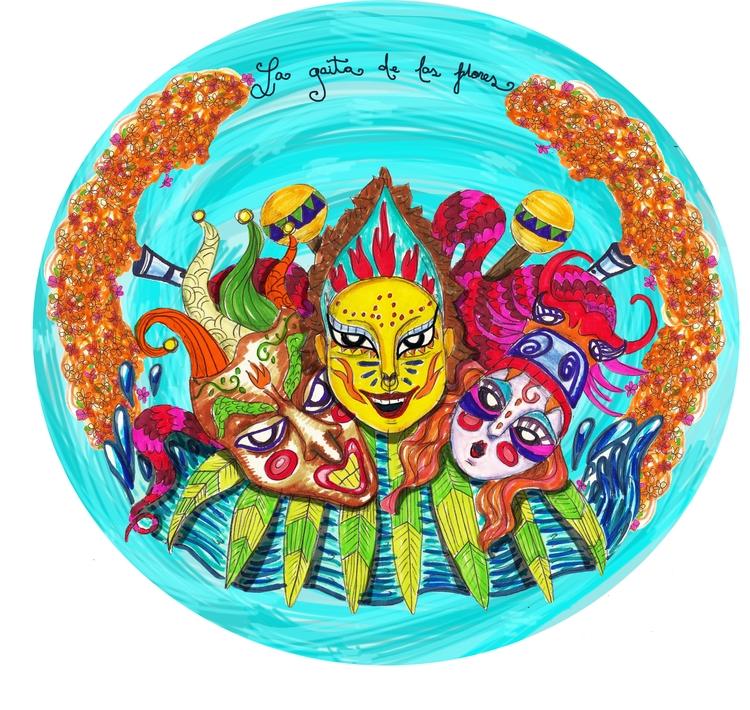Latin carnival - illustration, colombia - maracarvajal | ello