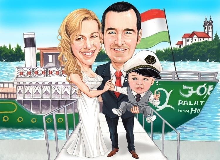 Custom Caricature - illustration - believeart | ello
