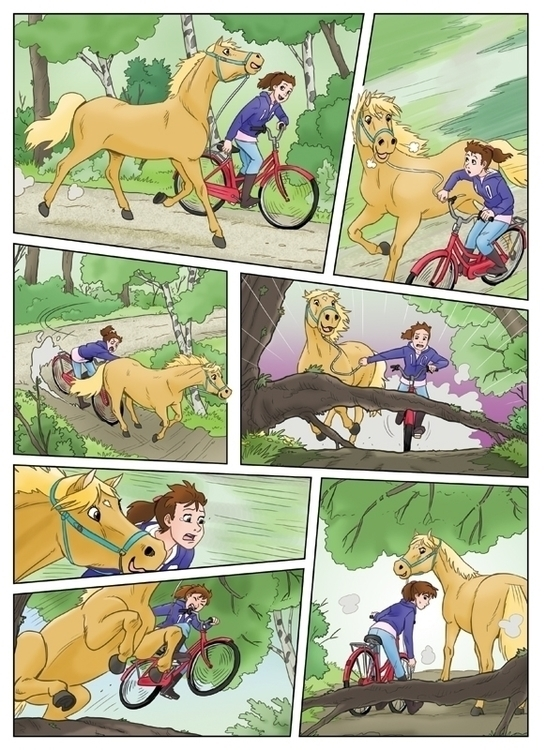 pony comics - bicycle, illustration - dolokecki | ello