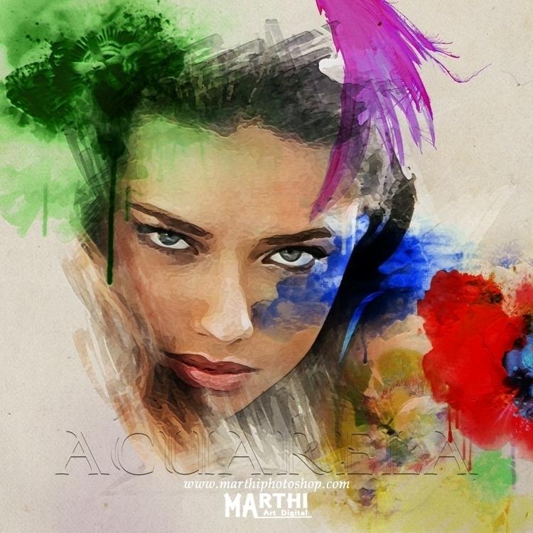 Acuarela - fashion, painting - marthi | ello