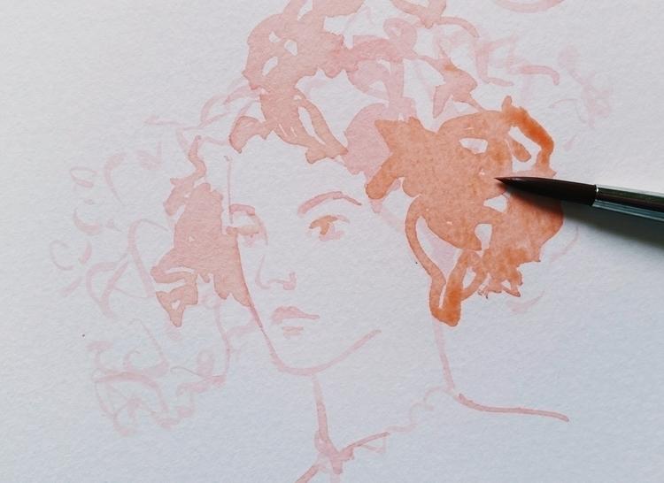 sketch, watercolor, fashionillustration - camillalocatelli | ello