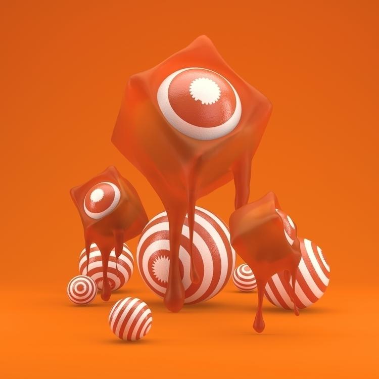 Gummy Orange - c4d, c4dart, 3d, design - hoang_anh_ | ello