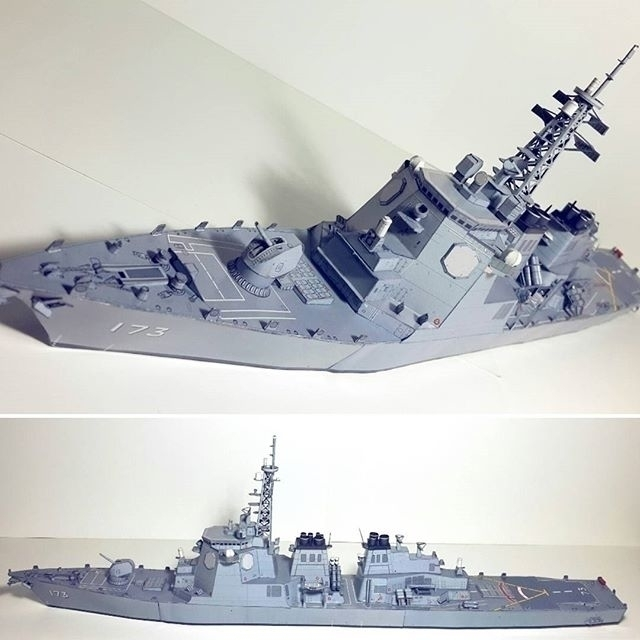 Paper Model 'Japanese Destroyer - papersmithsingh | ello