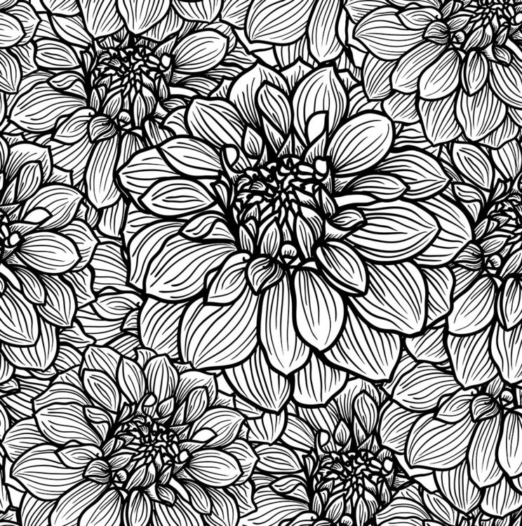 FLOWERS black white. Seamless f - slanapotam | ello