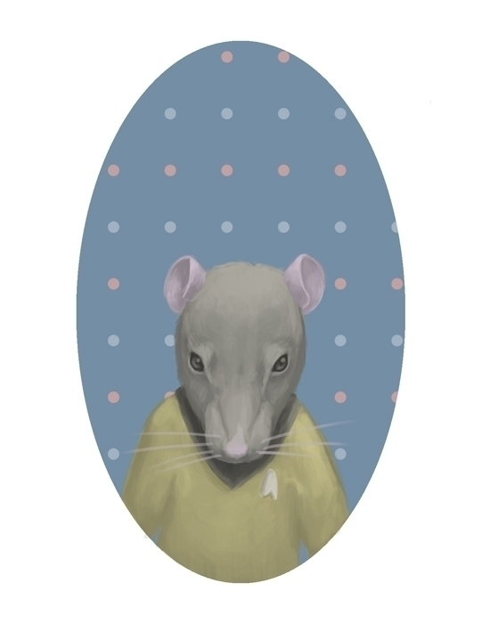 rat, portrait, animals, digitalart - fionaostby | ello
